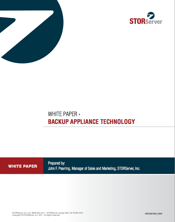 backup appliance technology whitepaper
