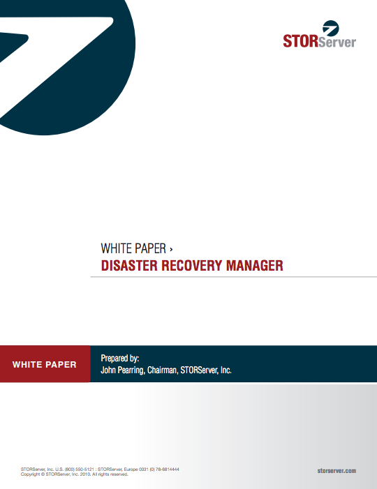 disaster recovery manager whitepaper