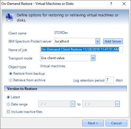 Virtual Machine Backup (VMB) | STORServer